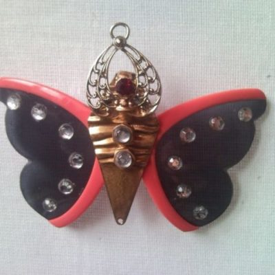 Butterfly brooch or necklace, pendant from sunglasses - 2 in 1