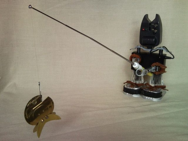 Ring In The Steampunk Decor To Pimp Up Your Home: Fisherman Catches Goldfish Upcycle Fish Bite Indicator
