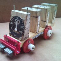 Recycled envelope and key holder transporter truck from pallet