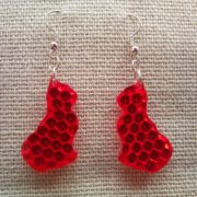 Red cat, pussycat, kitten, kitty earrings from retro-reflector