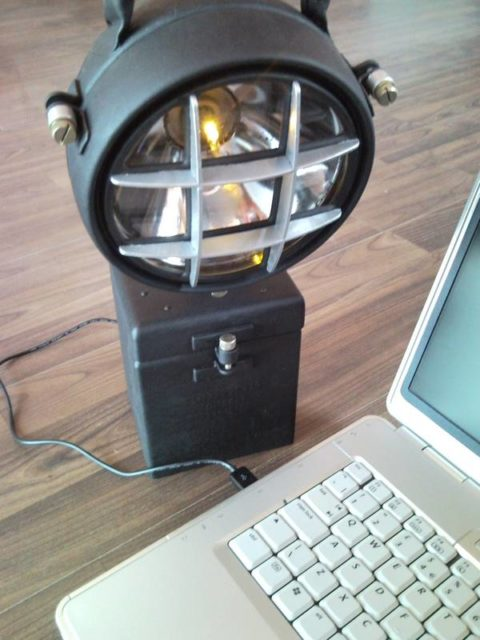 Upcycled Industrial Garage Workshop Led Usb Laptop Lamp