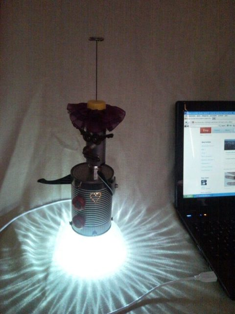 Clown, harlequin, bozo laptop mood LED lamp from USB