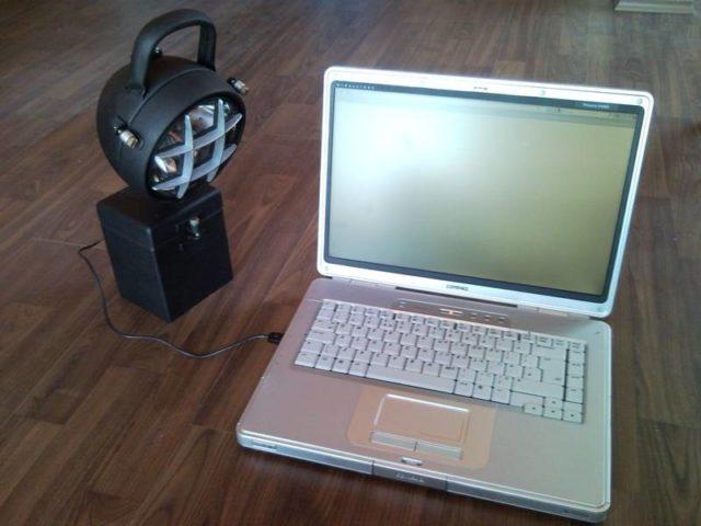 Upcycled Industrial Garage Workshop Led Usb Laptop Lamp