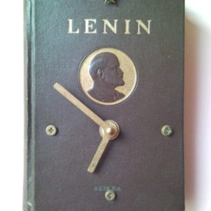 Historical wall clock from book of comrade Lenin 2