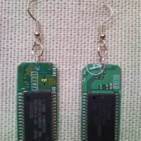 Recycled microchip PCB geekery earrings 10.