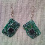 Recycled microchip PCB geekery earrings 11.
