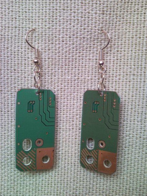 Recycled microchip PCB geekery earrings 13.