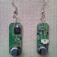 Recycled microchip PCB geekery earrings 14.