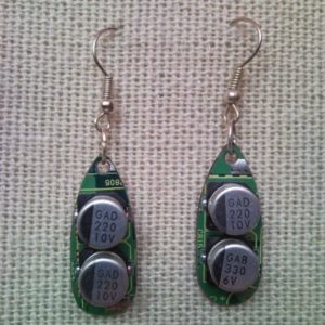 Recycled microchip PCB geekery earrings 17.