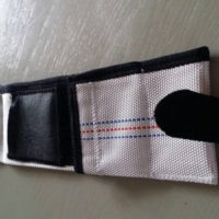 Customer's photo from fire hose wallet in review