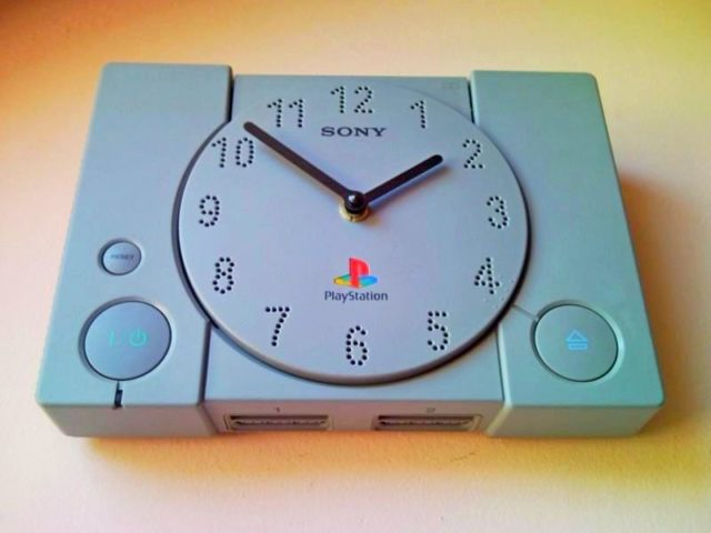 Recycle Playstation Ps1 Retro Video Game Console Wall Clock 2