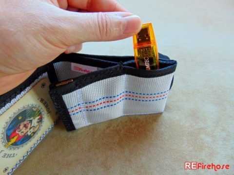 Hipster wallet eccentric card holder designed from hardwearing fire hose