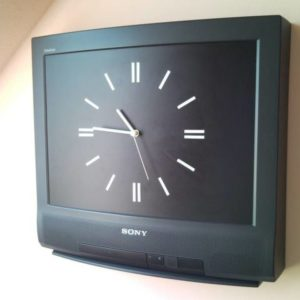 Retro Sony TV set wall clock - without commercials