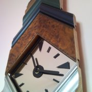 Artistic recycled painting frame wall clock with mirror