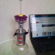 Clown, harlequin, bozo laptop mood LED lamp from USB