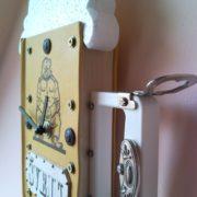 Good soldier Svejk novel book wall clock as a beer mug