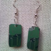 Recycled microchip PCB geekery earrings 6.