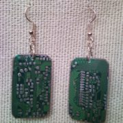 Recycled microchip PCB geekery earrings 7.