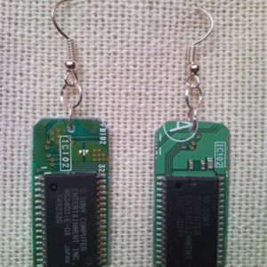 Recycled microchip PCB geekery earrings 10.