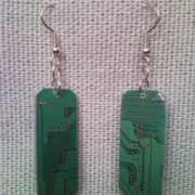 Recycled microchip PCB geekery earrings 12.