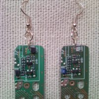 Recycled microchip PCB geekery earrings 13.