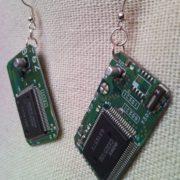 Recycled microchip PCB geekery earrings 15.