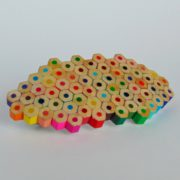 Rainbow colored pencil barrette hair clip accessory for art teacher artist painter